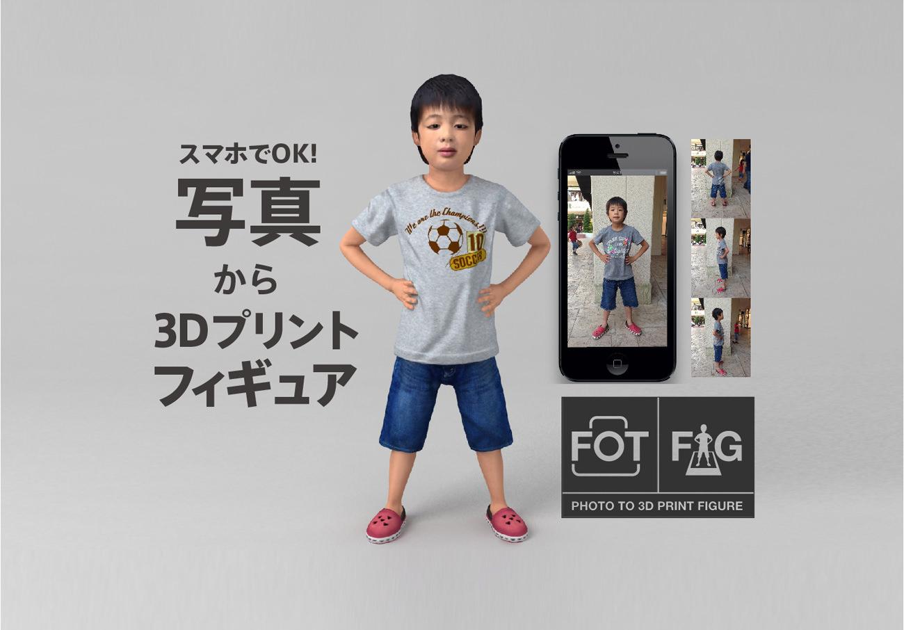 写真から3DプリントフィギュアFOTOFIGポスター